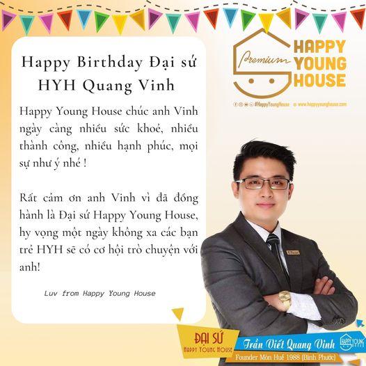 HAPPY BIRTHDAY ĐẠI SỨ HAPPY YOUNG HOUSE QUANG VINH